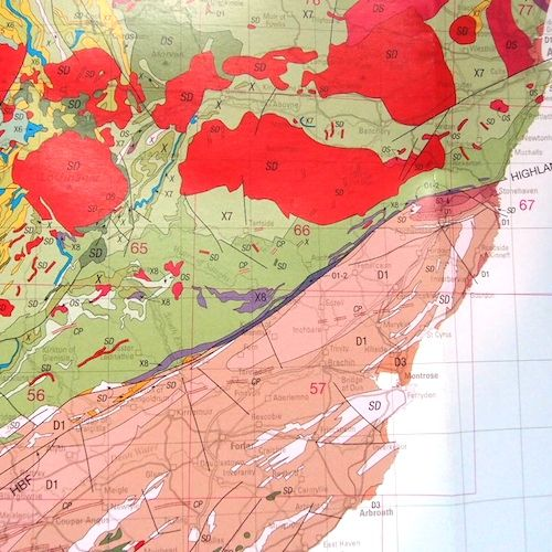 large scale geological map of the uk north sheet new copy